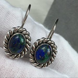 Jewelry - Sterling Silver Azurite Earrings